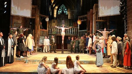 Jonathan Sharps as Jesus in the Chester Mystery Plays