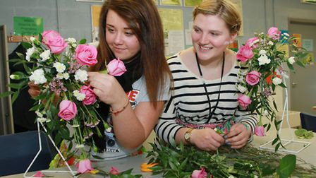Reaseheath floristry students Emma Ollier and Jen Latham are Bermuda bound
