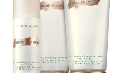 Crme de la Mers THE REPARATIVE BODY SUN LOTION SPF 30, 65, is said to protect against sun damage, hy