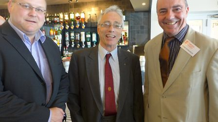 (L-R) Lester Bird (Underwood Wright Chartered Surveyors), Bill Pope (Seldons LLP Solicitors) and Joh