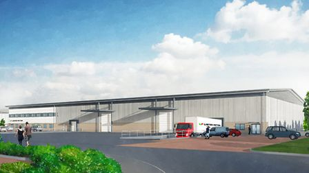 CGI of Lister Petter's New Warehouse Facility at Quedgeley West Business Park