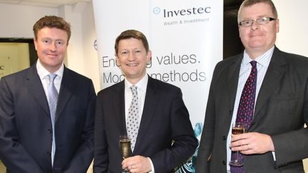 Investec Office Head Peter Horton, with Investec Chief Executive Jonathon Wragg and Tom Street Head
