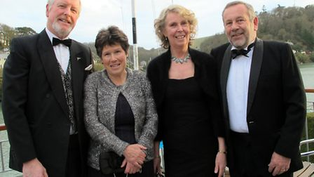 (L-R) Andy Crawford (Committee Member and Organiser of the Charity Dinner), Helen Crawford, Alison