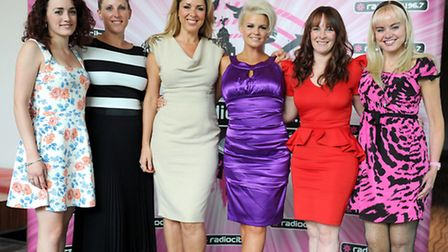 Lauren Moss and Claire Morrow from Radio City, Claire Sweeney, Kerry Katona, Natalie Quirke and Clai