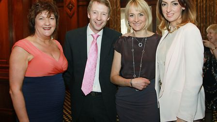 Inspiring Women Founder, Jacqueline Hughes-Lundy, with BBC Presenters, Andy Crane, Louise Minchin