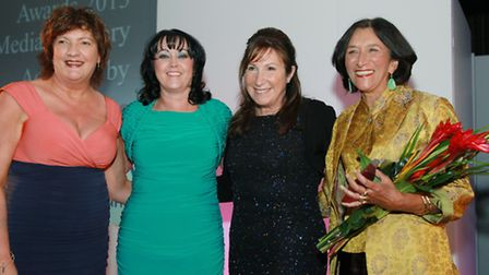 Jacqueline Hughes Lundy with Louise Teague-McCarthy,director and actress Kay Mellor, and Sita Willia