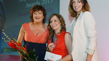 Inspiring Young Woman Kirsty Ashton flanked by Jacqueline Hughes Lundy and Sally Nugent