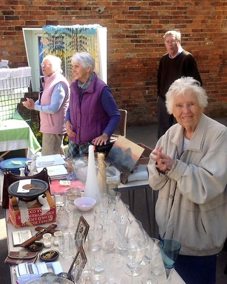 Volunteers at Winchcombe's monthly Saturday market