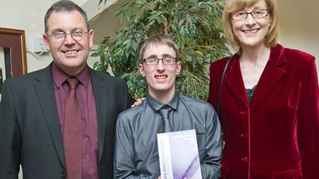 Andy Roberts, WESCs Social Enterprise Manager, with Ian Morrison, winner of Young Volunteer Award, a