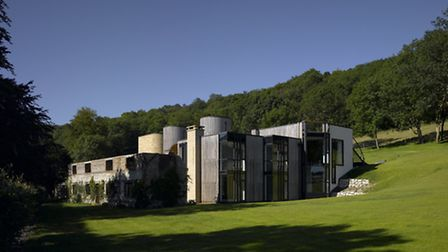 Downley House sits on the slope of a valley