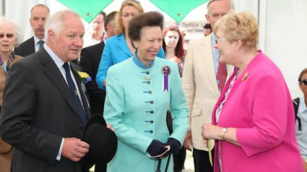 HRH The Princess Royal is welcomed into the NAFAS Flower Marquee