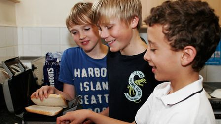 Boarders often get creative in the kitchen when it's snack time!