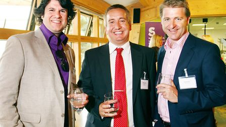 Chris Isaac of The Isaac Partnership, Martin Niblett of First Base Employment and Oli Christie of Ne