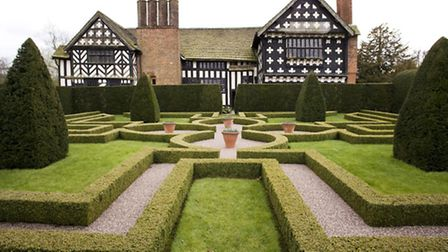 Little Moreton Hall is the classic Cheshire black and white timbered building, and one of the finest
