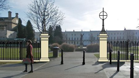 Artist's impression showing the proposed railings at Imperial Gardens