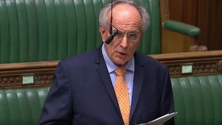 Peter Bone in the House of Commons. Photograph: Parliament TV.