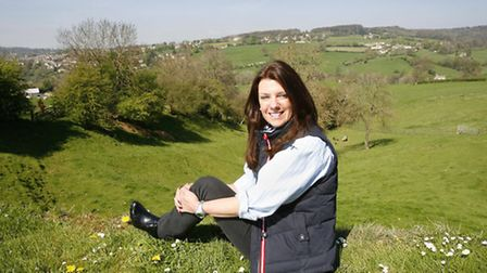 Dr Dawn Harper at home in Sheepscombe