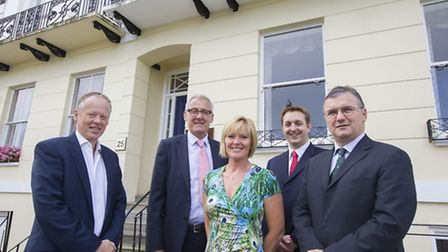 Tim Smith of John Ryde Commercial with Lodders partners Rod Bird, Penny Gladman, Paul Mourton and Ro