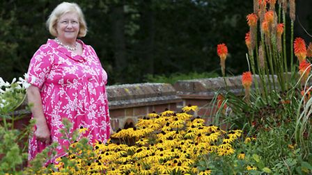 Marie-Elisabeth loves using bright colours in the garden