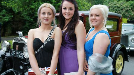 Rachael Toon, Emma Higgins and Molly Street who arrived in vintage style