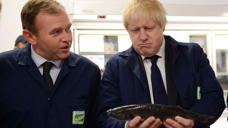 Boris Johnson (right) with George Eustice.