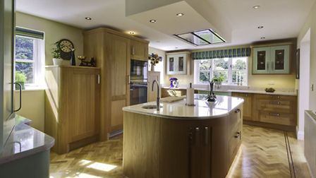 Anne Tuner's uniquely designed kitchen by Bower Willis Designs of Shipston on Stour