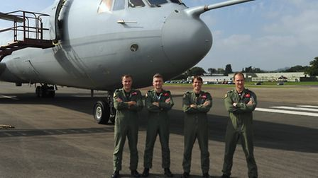 The team who made the final flight