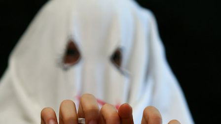 """""""Oh goodness, what scary ghosts!"""" our elderly neighbour said"""