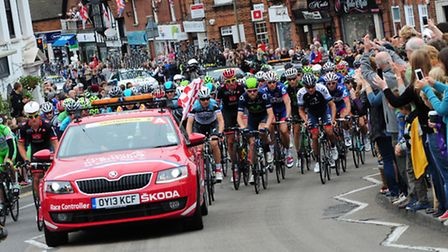 The Tour of Britain rolls out through Epsom
