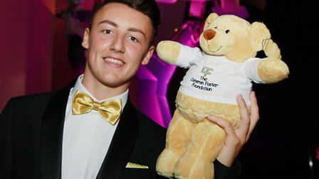 Cameron Foster and mascot