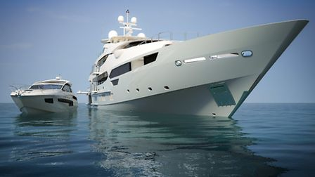 The Sunseeker range goes from the Portofino 40 ( left ) to their latest superyacht the 155