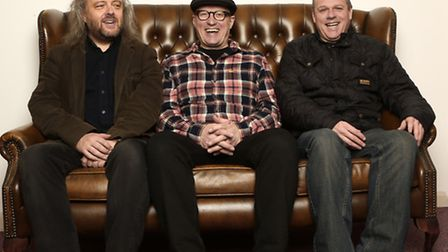 Ade Edmondson, Troy Donockley and Andy Dinan aka The Bad Shepherds