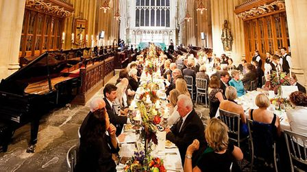The Great Bath Feast opened with an opulent evening of dining in Bath Abbey