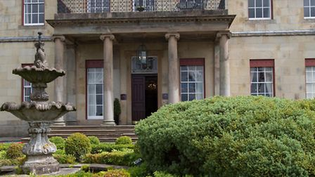 Picturesque view of the Front elevation to the early 19th century, Thomas Emmet designed, Shrigley H
