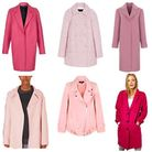 Selection of Pink Coats for Winter 2013