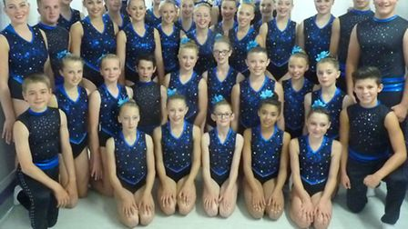 The Ivybridge Community College gymnasts that are performing for Britain's Got Talent Producers in C