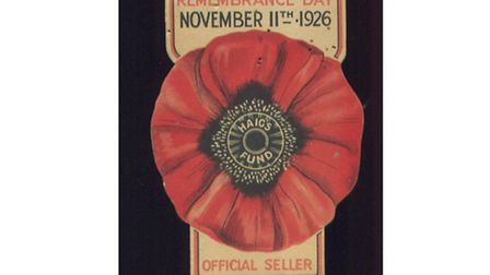 Early poppy sellers' ID badge