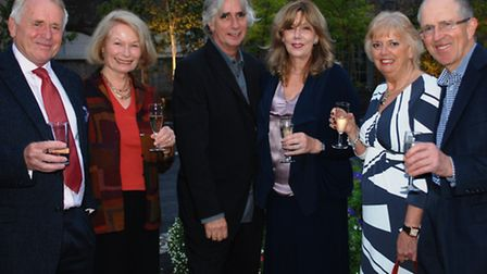 KIND HOSTS: Professor Phil Redmond and wife Alexis (centre) with Roger and Sarah Mills and Bryan and