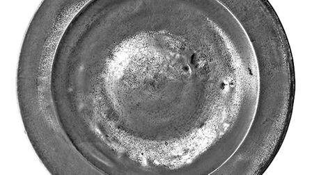 A rare pewter plate which was possibly used at the coronation banquet of Henry VIII in June 1509 is