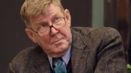 Alan Bennett in rehearsal for People at the National Theatre