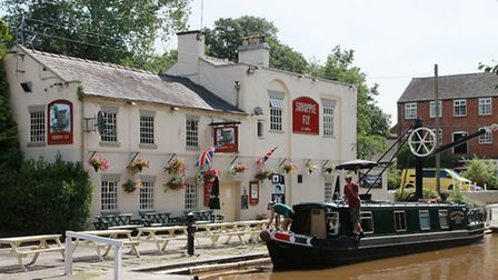 The Shroppie Fly by the Shropshire Union Canal at Audlem Mill