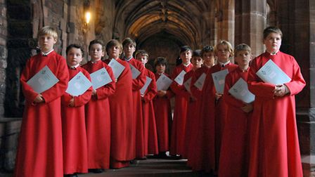 In the cloisters - Chester Cathedral Choir.