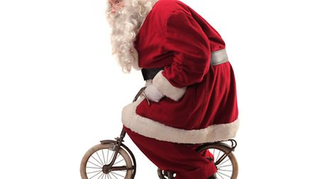 I mused out loud what fun it would be to dress up as Father Christmas and cycle up the Nailsworth W