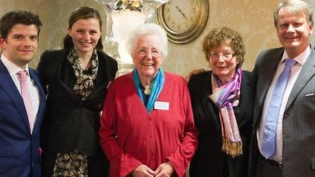 Dr Anne Hunter (middle) with Charlie, Sarah, Marilyn and Geoffrey Hoare