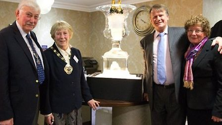 The Mayor of Waverley Patricia Ellis and Mayor's consort Brian Ellis with Geoffrey and Marilyn Hoare