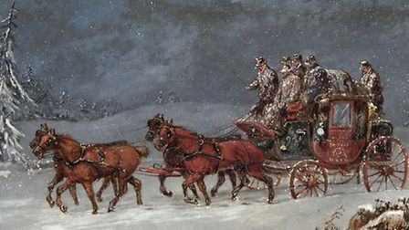Mail Coach in a Snowstorm - Royal Mail Group, 2013