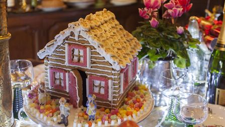 The delightful gingerbread house was made by Belle of the Well Walk Tea Room