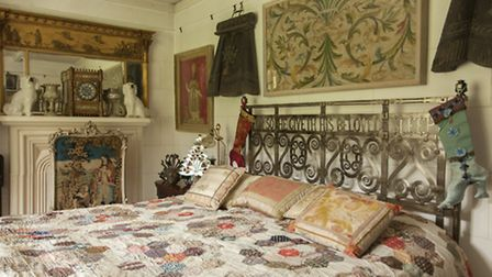 This magnificent steel bed is 1900s Arts & Crafts found in the attic of a removal firm, and the Vict