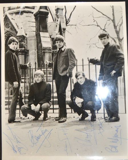Signed Rolling Stones photo