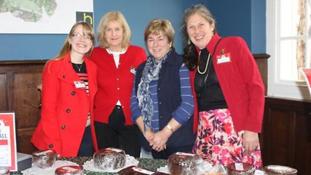 Hannahs Community Fundraiser Katie Hall with Hannahs fundraisers Liz Lehmann, Mary West and Barbara